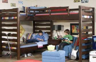 Legacy Classic Solutions Dual Loft Bed Interior Decor Picture