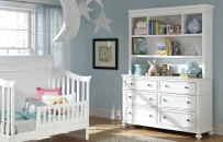 Nursery Bookcase/Hutch with Dresser