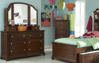 Dresser with Vanity Mirror