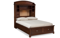 Bookcase Bed with Storage Full