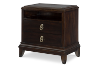 Bedside Chest with Stone Inlay