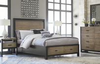 Panel Bed with Storage 5/0 - Queen