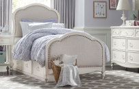 Victoria Upholstered Panel Bed Twin