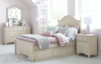 Low Poster Bed, Full 4/6