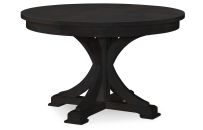 Round to Oval Pedestal Table - Peppercorn