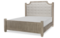 Complete Upholstered Low Post Bed, CA King