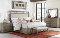 Complete Upholstered Platform Bed, CA King 6/0