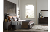 Panel Bed w/Storage & Brass Accents, CA King 6/0