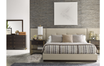 Upholstered Wall Bed w/Panels, CA King 6/0