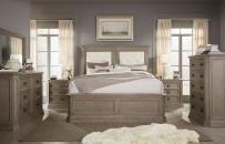 Upholstered Mansion Bed, CA King 6/0