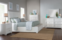 Panel Bed w/Storage Footboard, CA King 6/0