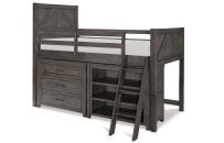 Mid Loft Bed, Twin w/ Components