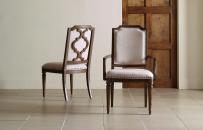 Upholstered Splat Back Arm Chair