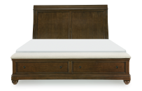 Sleigh Bed w/Storage Ftbd, Queen