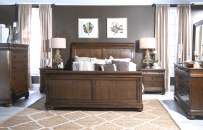 Complete Sleigh Bed, CA King 6/0