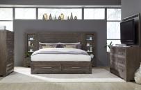 Wall Panel Bed w/ Storage Footboard, CA King 6/0